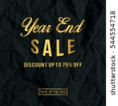 year end sale. vector... | Shutterstock .eps vector #544554718