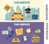taxi service. cartoon vector... | Shutterstock .eps vector #544555894
