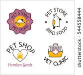 Stock vector pet shop symbols vector 544558444