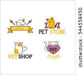 Stock vector pet shop symbols vector 544558450