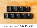 copy paste words with keyboard... | Shutterstock . vector #544581436