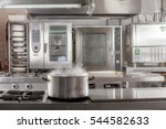 real industrial kitchen pots in ... | Shutterstock . vector #544582633
