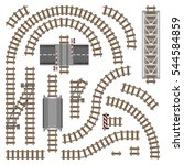 vector illustration of railway... | Shutterstock .eps vector #544584859