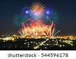 beautiful firework display for...   Shutterstock . vector #544596178