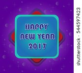 happy new year background on... | Shutterstock .eps vector #544597423