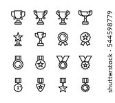 award icon vector pack | Shutterstock .eps vector #544598779