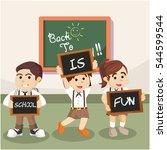 school is fun illustration...   Shutterstock .eps vector #544599544