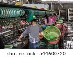 Silk Factory Workers Soaking...