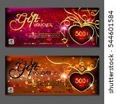 gift voucher. vector ... | Shutterstock .eps vector #544601584