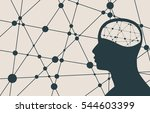 silhouette of a man's head.... | Shutterstock .eps vector #544603399