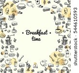 vector breakfast and morning... | Shutterstock .eps vector #544610593