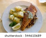 filet of pike perch with... | Shutterstock . vector #544610689