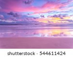 a cotton candy sunrise at the... | Shutterstock . vector #544611424