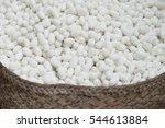 silkworm  bombyx mori  cocoons. ... | Shutterstock . vector #544613884