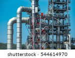 close up industrial view at oil ... | Shutterstock . vector #544614970