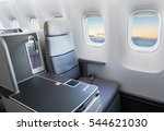 airplane seat and window inside ... | Shutterstock . vector #544621030