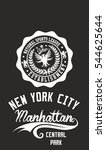 new york manhattan graphic... | Shutterstock .eps vector #544625644