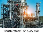 close up industrial view at oil ... | Shutterstock . vector #544627450