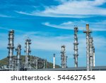 close up industrial view at oil ... | Shutterstock . vector #544627654