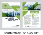 greenery brochure layout design ... | Shutterstock .eps vector #544629484