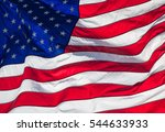 american flag  close up. | Shutterstock . vector #544633933