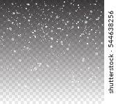snow falling background. vector ... | Shutterstock .eps vector #544638256