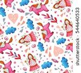 children's cute seamless... | Shutterstock . vector #544640533