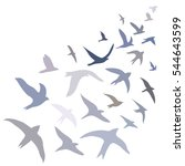 vector illustration flying... | Shutterstock .eps vector #544643599