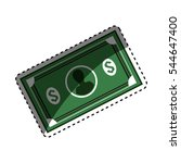 money billets isolated icon... | Shutterstock .eps vector #544647400