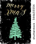 merry christmas and happy new... | Shutterstock .eps vector #544655554