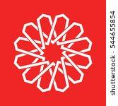 traditional geometric oriental... | Shutterstock .eps vector #544655854