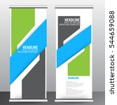roll up business brochure flyer ... | Shutterstock .eps vector #544659088
