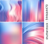set of four square backgrounds. ... | Shutterstock .eps vector #544664470