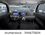 empty cockpit of vehicle  hud... | Shutterstock . vector #544675834