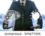 business industrial brain gear... | Shutterstock . vector #544677430