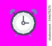 alarm clock icon flat disign