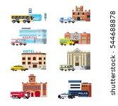 orthogonal set of city services ... | Shutterstock .eps vector #544688878