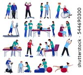 physiotherapy rehabilitation... | Shutterstock .eps vector #544690300