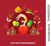 exciting perfomance concept... | Shutterstock .eps vector #544690324
