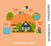 colorful real estate concept...   Shutterstock .eps vector #544690390