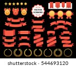 vector collection of decorative ... | Shutterstock .eps vector #544693120