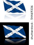 scottish flag flowing | Shutterstock .eps vector #54469336