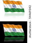 indian flag flowing | Shutterstock .eps vector #54469342