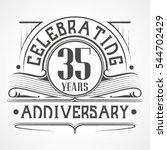 35 years anniversary... | Shutterstock .eps vector #544702429