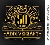 50 years anniversary... | Shutterstock .eps vector #544702438