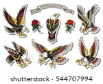 vector traditional tattoo... | Shutterstock .eps vector #544707994