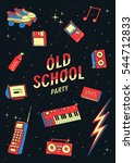 old school elements set. retro...   Shutterstock .eps vector #544712833