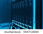 close up of hard drives in... | Shutterstock . vector #544713004