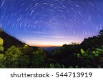 nature on a night sky | Shutterstock . vector #544713919
