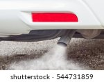 exhaust fumes from car exhaust... | Shutterstock . vector #544731859
